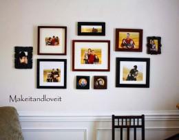 Keret kollekció a falon