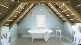 Luxusfürdőszoba a tetőtérben