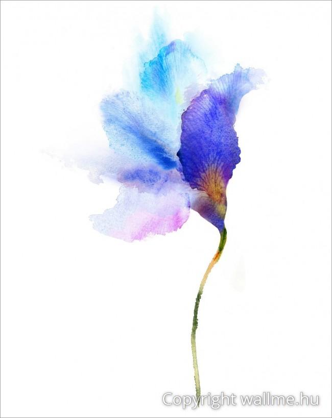 Visszafogott, semleges vízfesték viráglenyomat