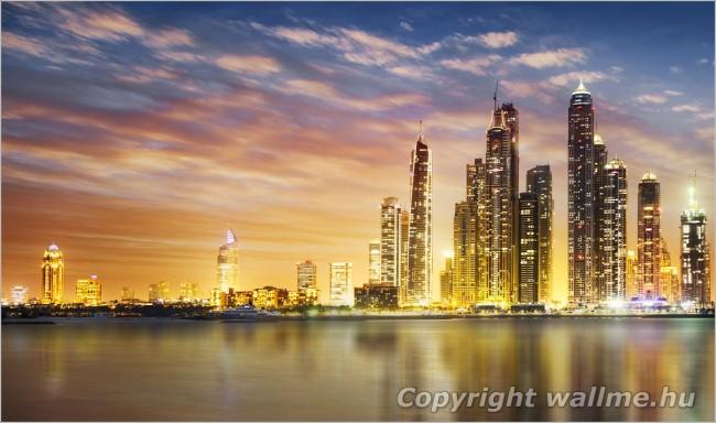 Dubai kikötő dekorációs kép