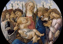 Botticelli - Mary with child and singing angels