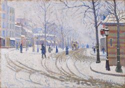 Signac - Snow, Boulevard de Clichy, Paris
