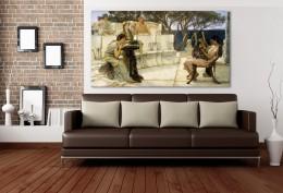 Lawrence Alma-Tadema - Szapphó és Alcaeus