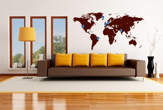 világjárók térképe szobakép