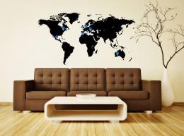 Világjárók térképe - szobakép