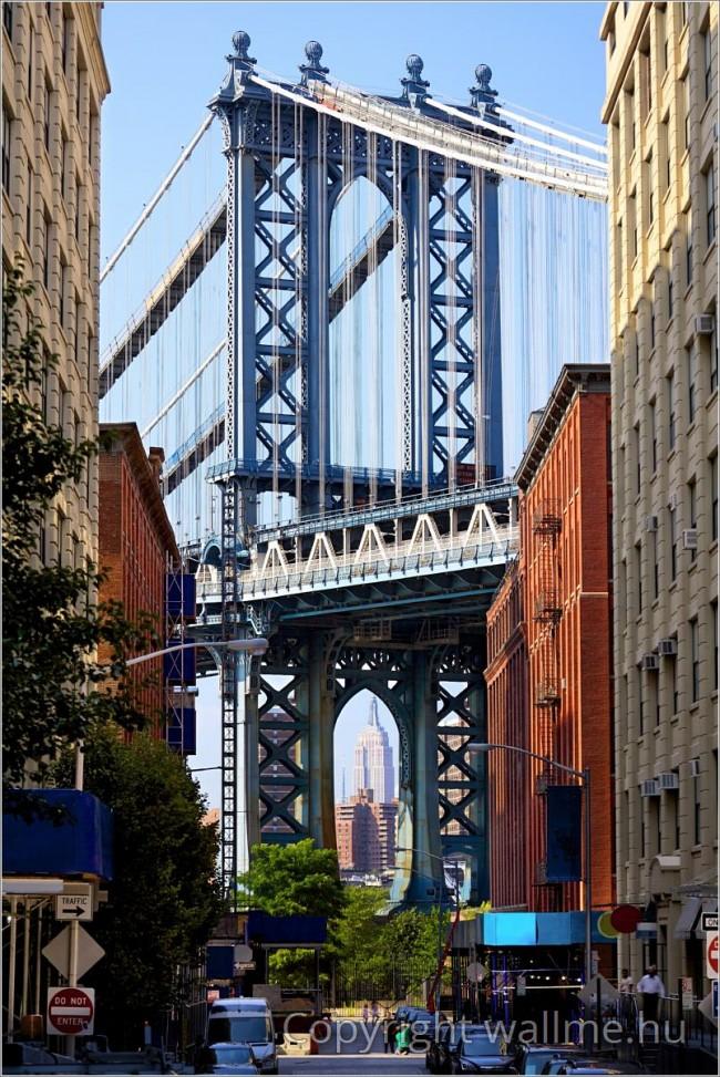 Álló fotókompozíció New York Manhattan hídjáról