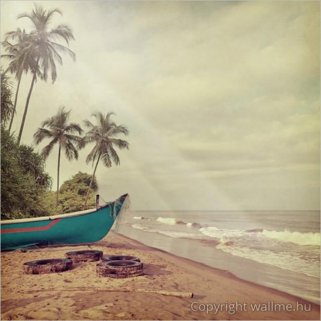 Hawaii retró stílusú tengerparti fotó