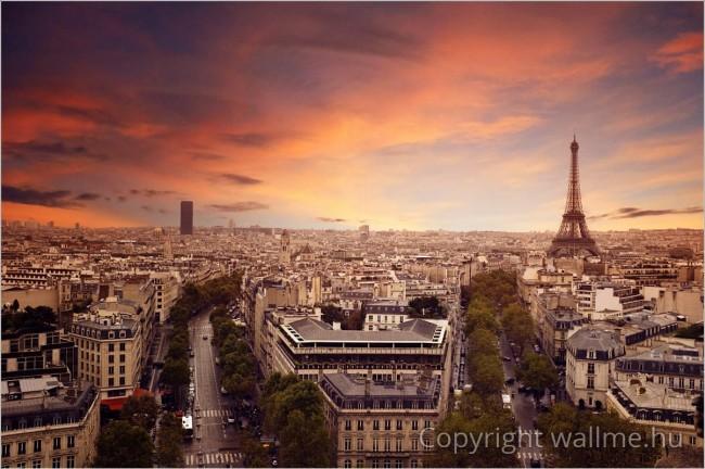 Naplementés Párizs fotó