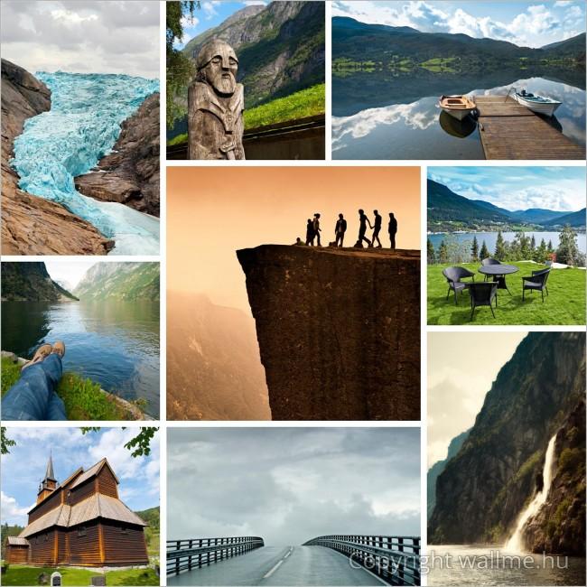Norvégia fotó összeállítás