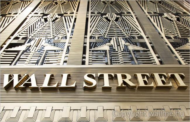 Fotó egy Wall Street feliratról