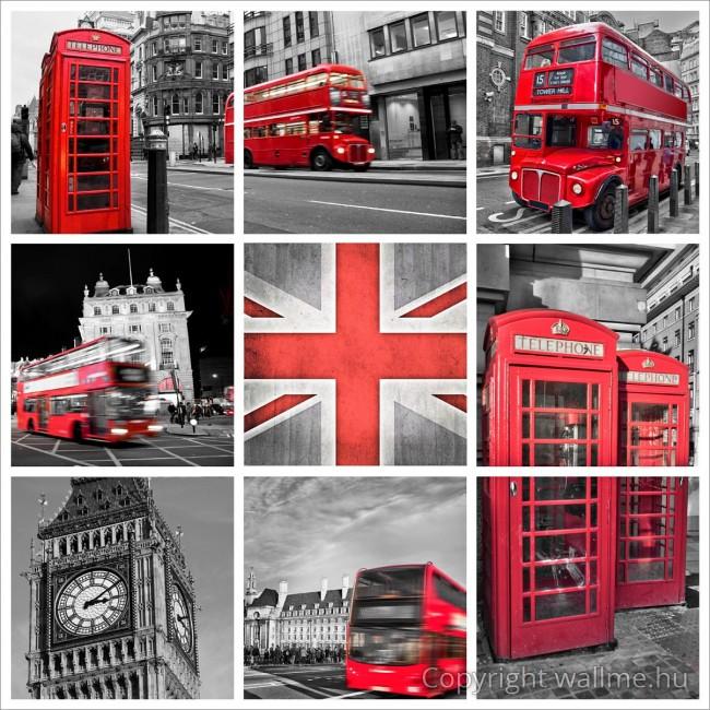 Londoni ikonikus tárgyak fotó összeállítás
