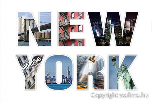 New York betűkép, fotókollázs