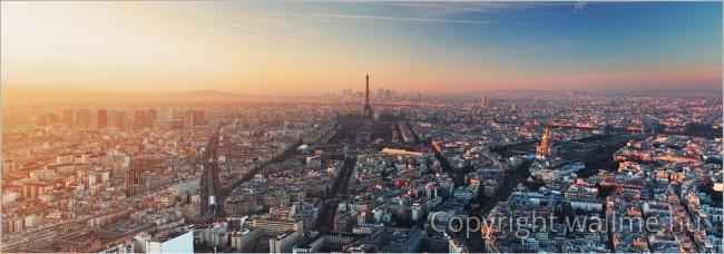 Részletgazdag párizsi panorámafotó
