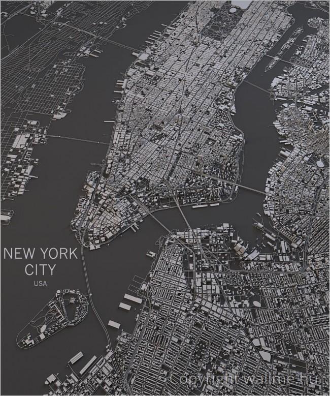 Absztrakt hatású New York makett fotó