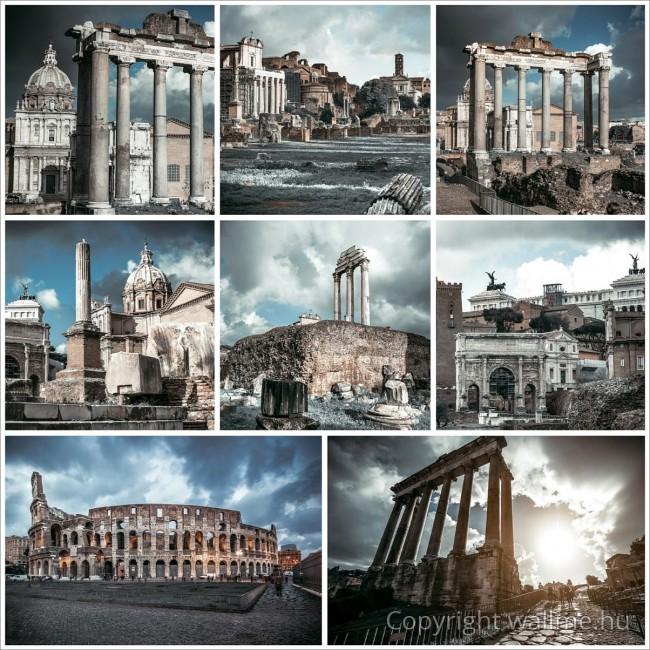 Róma fotókollázs