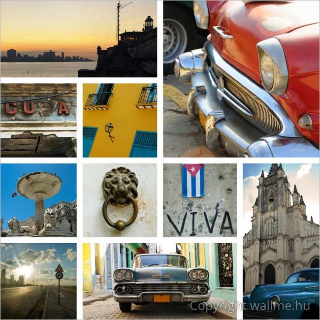 Kuba fotókollázs