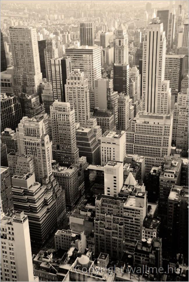 New York, Manhattan szépia fotó