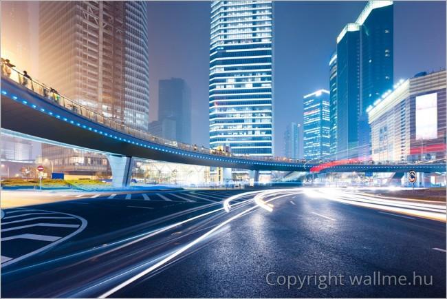 Nagyvárosi fényes fotó
