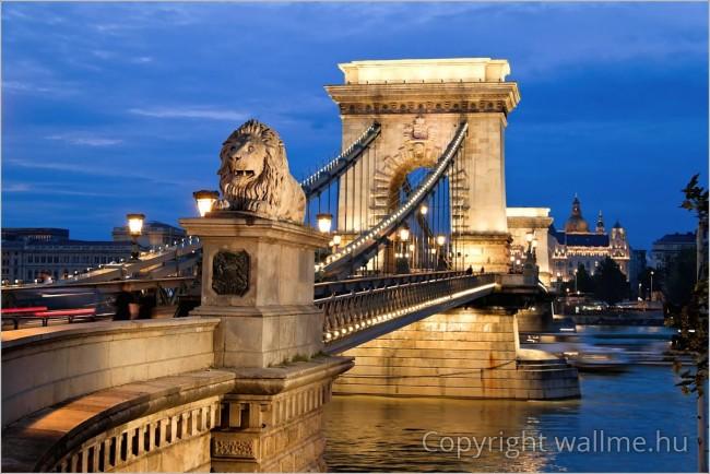 Budapest jelképe, ízlésesen megkomponált Lánchíd fotó