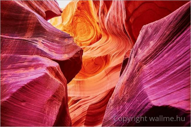 Antilop-kanyon természetfotó absztrakt formákkal