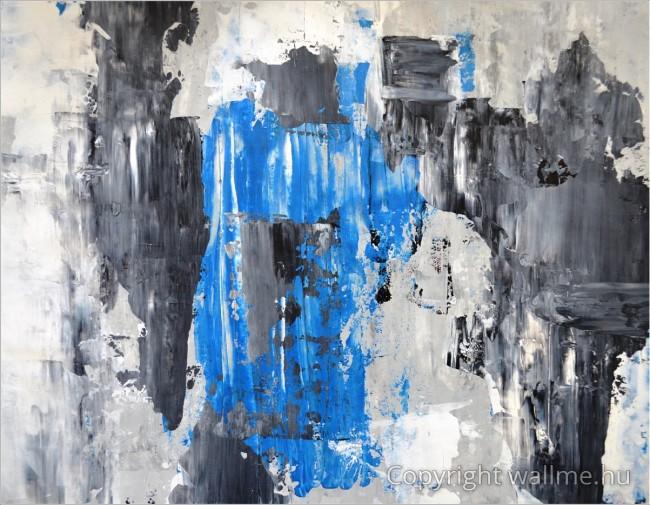 Kék szürke absztrakt alakok