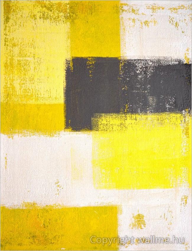 Sárga szürke absztrakt kép