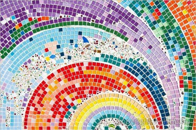 Spirális mozaikcsempék