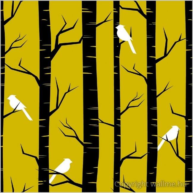 Fák madarak tapéta