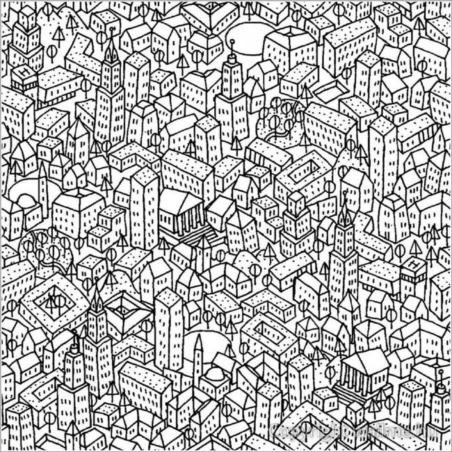 Rajzolt város tapéta