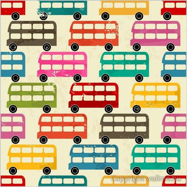 Színes londoni buszok