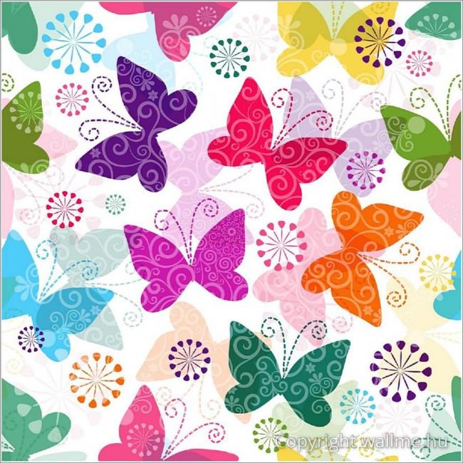 Színes pillangó tapéta