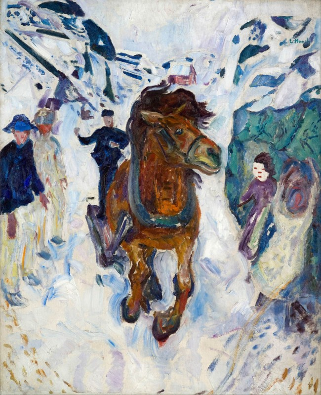 Munch - Galloping Horse