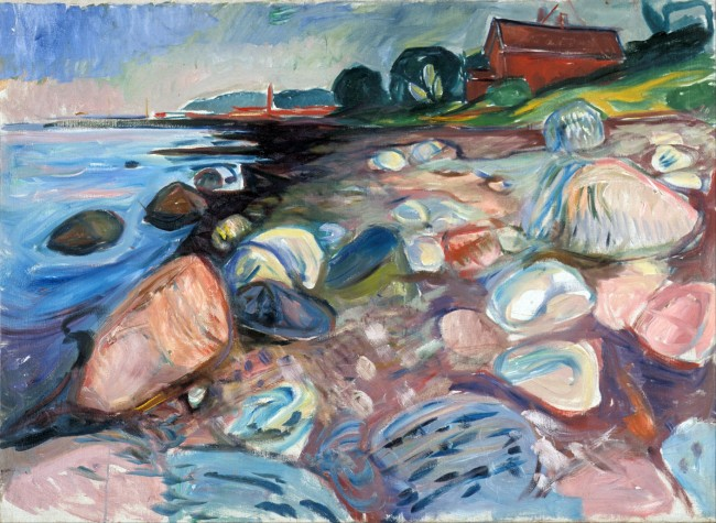 Munch - Shore with Red House